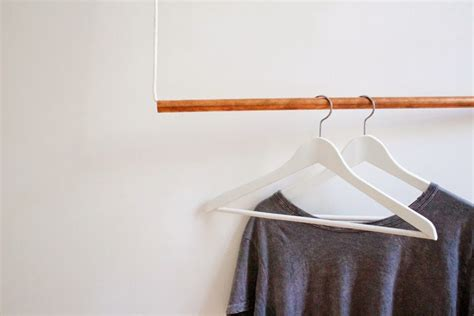 how to make hanging clothes rack foxtail moss make simple copper hanging garment rack
