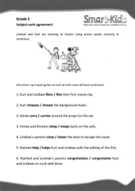 grade  english worksheet subject verb agreement smartkids