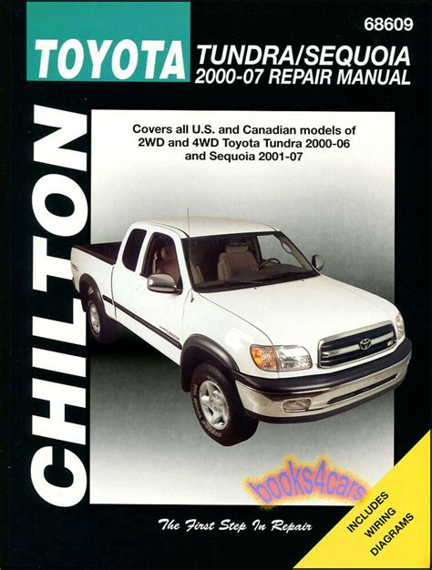 best car repair manuals 2001 toyota 4runner user handbook toyota tundra sequoia shop manual service repair book chilton haynes 2000 2007 ebay