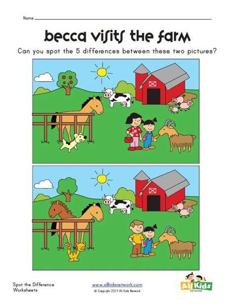 spot the difference farm worksheet worksheets 776 | 2499eff4f5999de94e2a7da9e8eda995