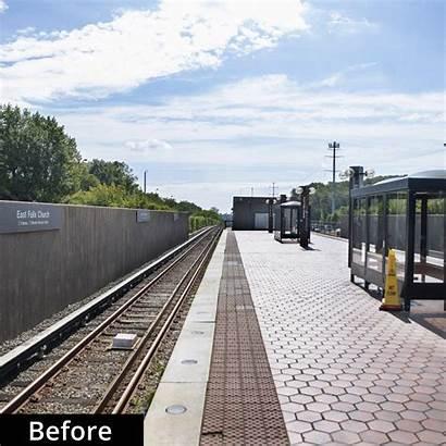 Station Wmata Falls Church East Metro Platform