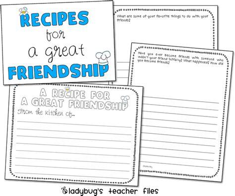 Friend Recipe Worksheet