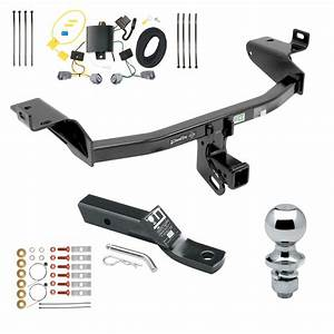 Trailer Tow Hitch For 2019 Jeep Cherokee Complete Package W   Wiring And 1 8 U0026quot  Ball