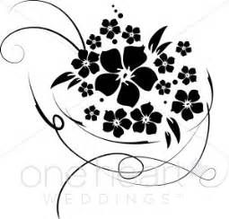 black and white wedding programs bridal bouquet clipart flower clipart