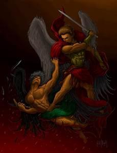 Saint Michael Archangel defeats Satan by artfreakguy on ...