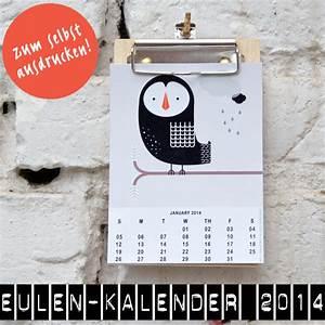 Geburtstagskarten Selber Machen Ausdrucken : ein toller eulenkalender zum selbst ausdrucken ~ Frokenaadalensverden.com Haus und Dekorationen