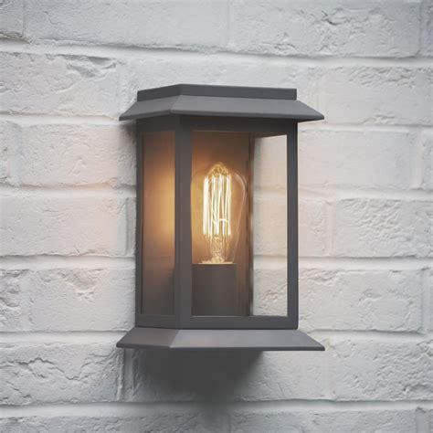 garden trading grosvenor outdoor wall light in charcoal