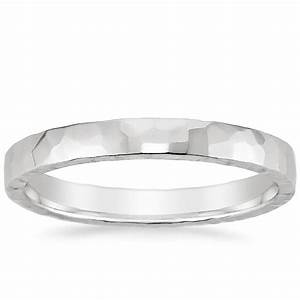 25mm hammered quattro wedding ring in 18k white gold With white gold hammered wedding ring