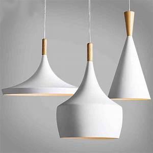 Suspension Blanc Et Bois : conception par nouveau battement de lampe pendante lumi re nouveau blanc en bois instrument ~ Teatrodelosmanantiales.com Idées de Décoration