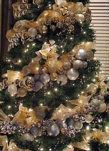 silver and gold christmas tree garland christmas decor balls