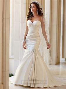 embellishment sweetheart neckline asymmetrical ruched fit With flare wedding dresses