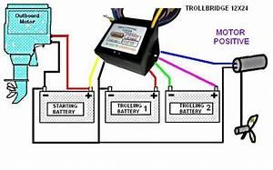 Trollbridge12x24 Battery Charger Combiner For Trolling Motors