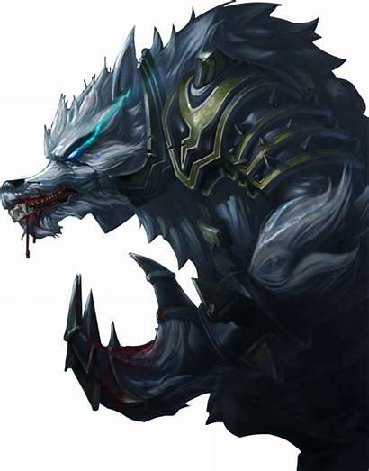 Warwick Tundra Hunter Splashart Lol League Werewolf