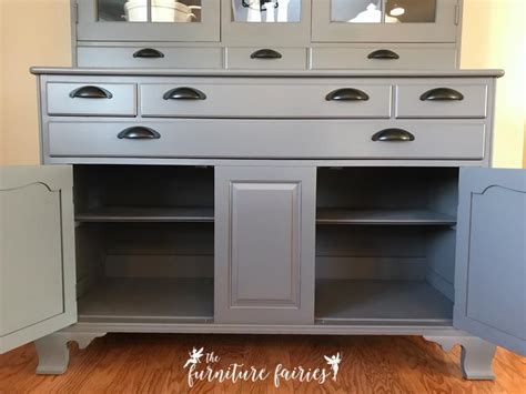 what colors are mahogany and millstone buffet in driftwood queenstown gray milk paint general 9628