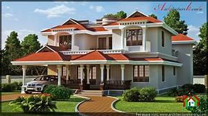 TRADITIONAL KERALA HOUSE ELEVATION - ARCHITECTURE KERALA