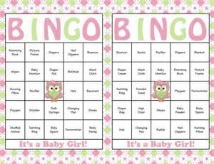 Baby Shower Bingo Printable Cards