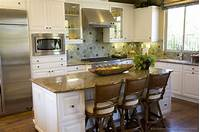 kitchen island design ideas Pictures of Kitchens - Traditional - White Kitchen Cabinets (Page 2)