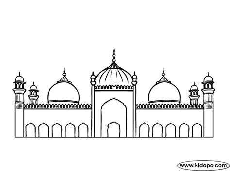 mosque colouring page sketch coloring page
