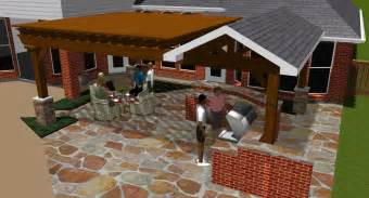 Patio Home Designs Texas by Covered Patios Design Rendering In Colleyville TX For Pergola And Cove