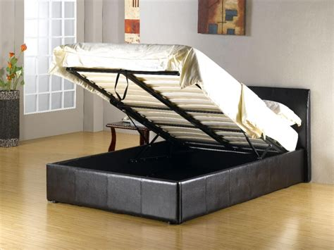 fusion single storage bed faux leather beds