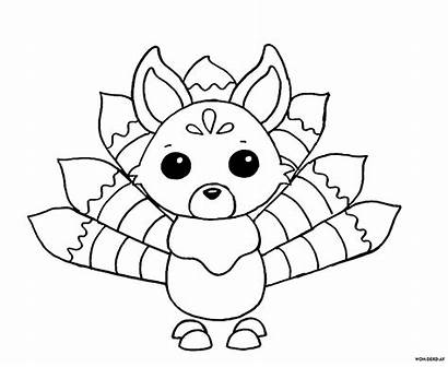 Adopt Roblox Coloring Ausmalbilder Kitsune Piggy Wonder