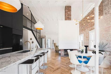 plafond de cuisine design cuisine en brique et en 56 photos inspirantes