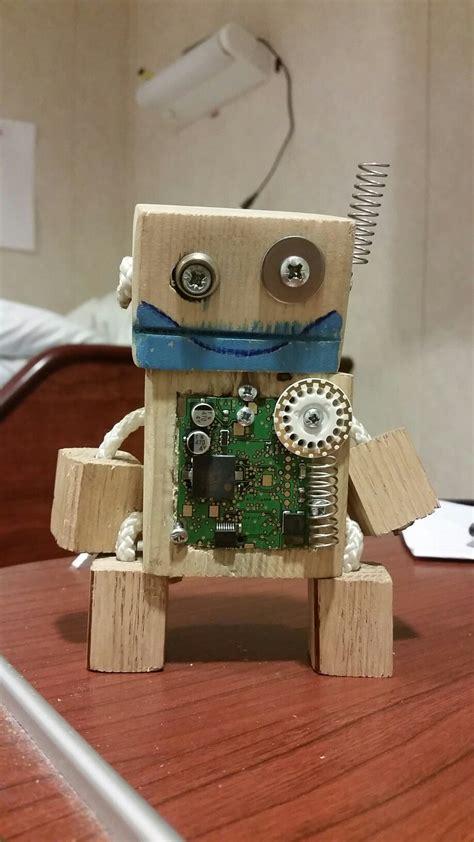 pin  scrap wooden robot