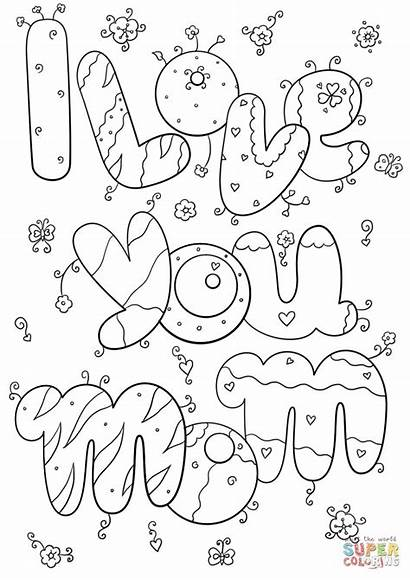 Coloring Pages Mommy Mom Printable Getcolorings Colorings