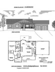 ranch style floor plans with basement ranch house plans by e designs 7