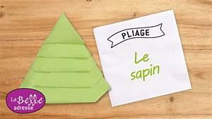 Sapin En Papier Plié : pliage de serviette en papier en forme de sapin ~ Melissatoandfro.com Idées de Décoration