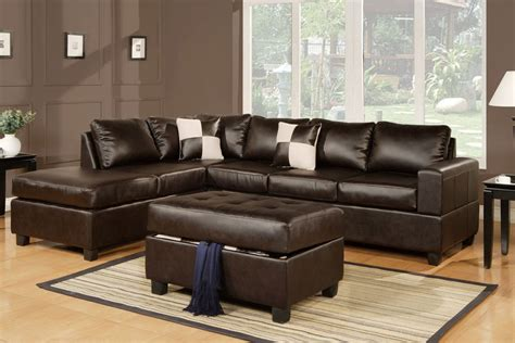 Sectional Sofa With Free Storage Ottoman Ebay Sofa