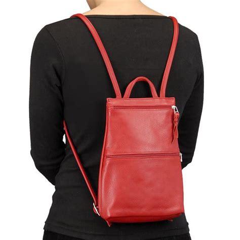 sven slim lightweight leather backpack terrestra