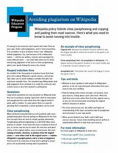 File:Classroom handout - Avoiding plagiarism on Wikipedia ...
