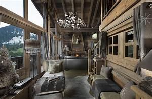 interieur de chalet a courchevel boiseries vieux bois With photo interieur chalet montagne