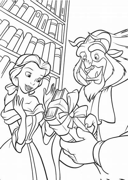 Beast Coloring Beauty Pages Printable Disney Belle