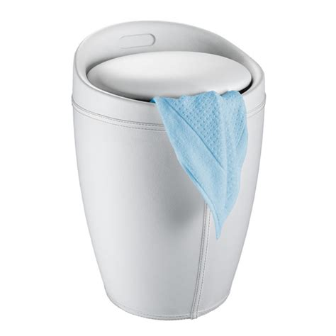 coffre tabouret salle de bain tabouret simili cuir blanc 21773500 achat vente panier 224 linge sur maginea