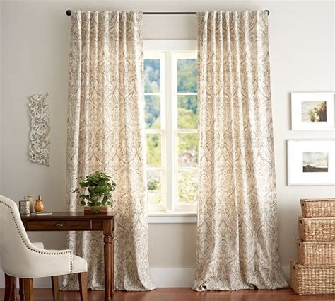 Pottery Barn Outdoor Curtains And Rods by Mackenna Paisely Drape From Pottery Barn Tales From Home