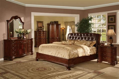 tufted leather headboard bed traditional king  queen