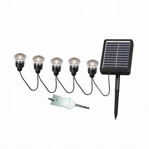 kenroy home 60503 5 light solar led light string with With outdoor solar lights with remote panel