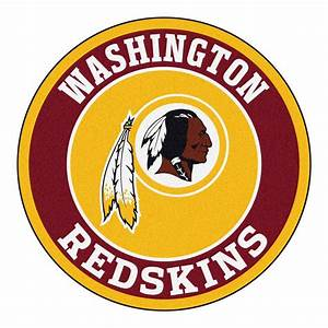 FANMATS NFL Washington Redskins Burgundy 2 ft 3 in x 2 ft 3 in Round Accent Rug-17979 - The
