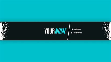 youtube banner template  adobe photoshop youtube