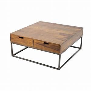 Table Basse Loft : table basse carr e loft mobilier industriel tendance ~ Teatrodelosmanantiales.com Idées de Décoration