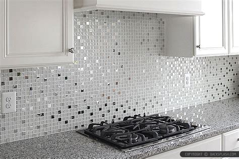 Glass And Metal Backsplash Tile : White Metal Glass Backsplash New Caledonia