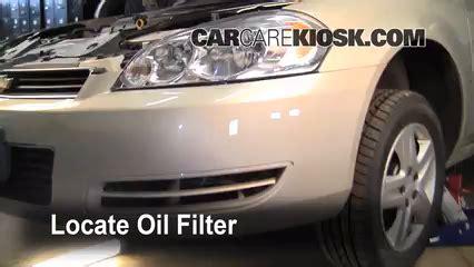 oil filter change chevrolet impala chevrolet impala