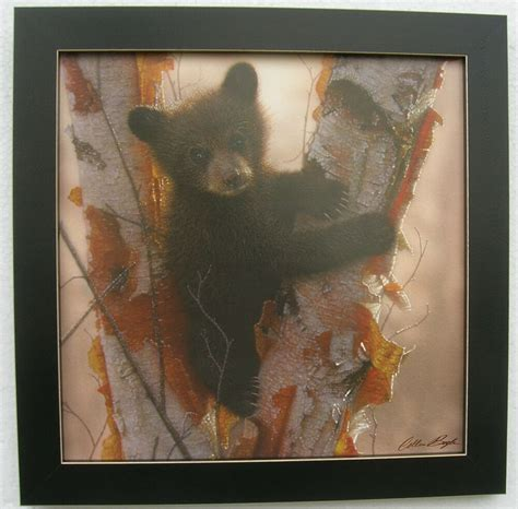 Home Interior Framed by Black Prints Cubs Framed Country Picture Print