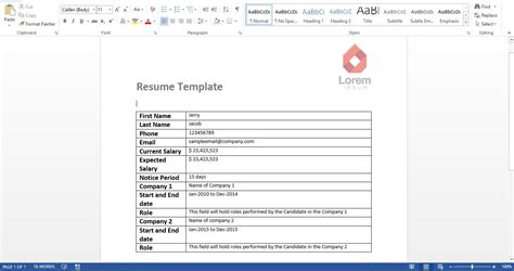 Make Your Own Resume by How To Create Your Own Resume Reader With Excel Vba Data