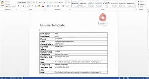 How to create your own resume reader with excel vba data for Create own resume