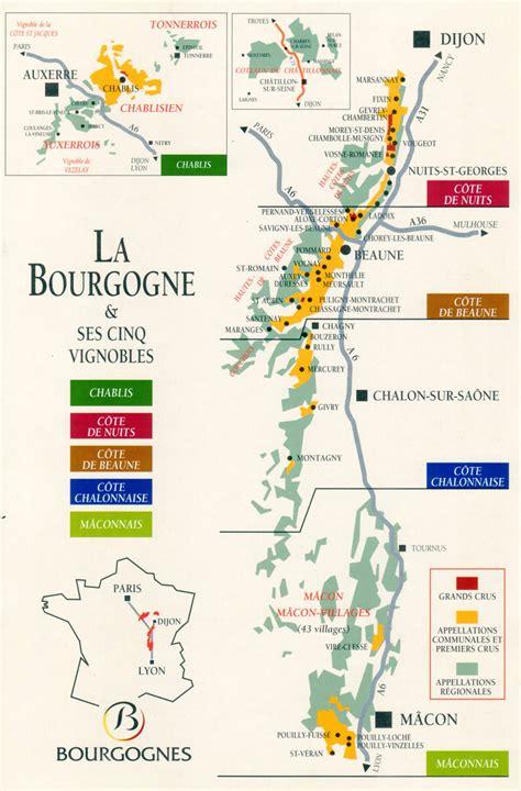 Acheter Carte Des Vignobles Français by Info Carte Des Vins De Bourgogne