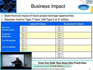 Analyze phase lean six sigma tollgate template for Business impact analysis template for banks