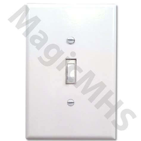 Standard Toggle Switch Cover Plate   White